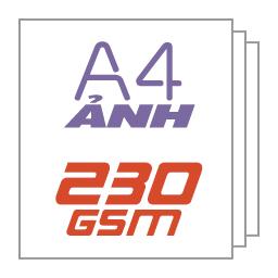 Giấy ảnh A4 230gsm